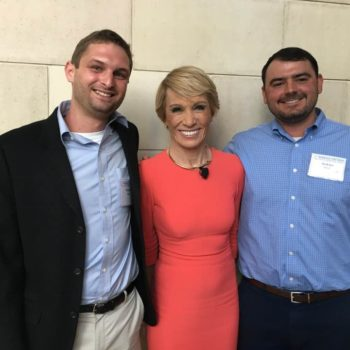 Sophisticated Properties very own Maxwell and Andrew pictured with Shark Tank Investor and Real Estate Icon, Barbara Corcoran